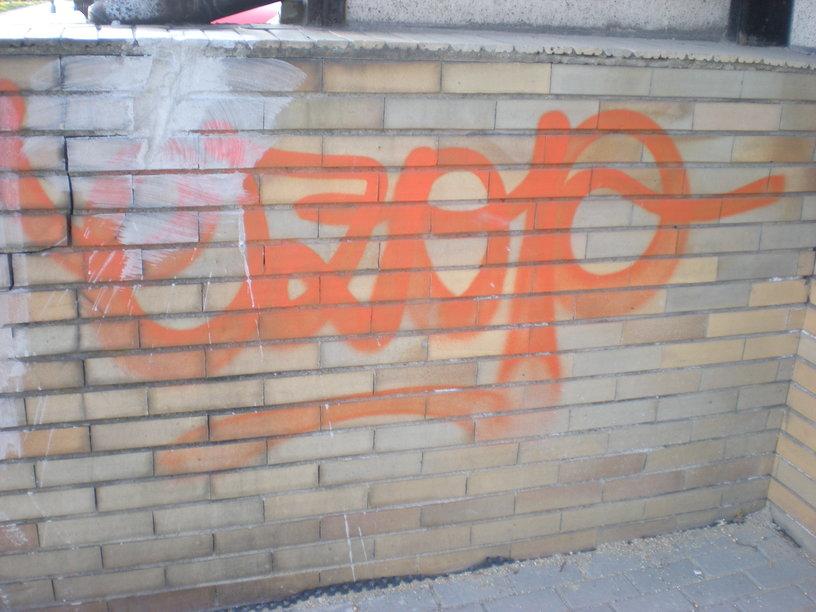 Odstranění graffity z lícového zdiva Brno