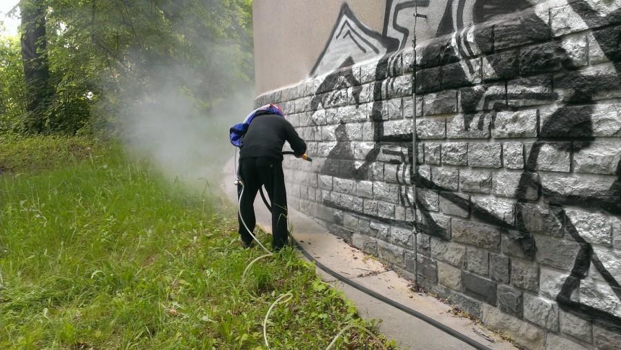 Odstraňování graffiti pískováním Brno - Řečkovice