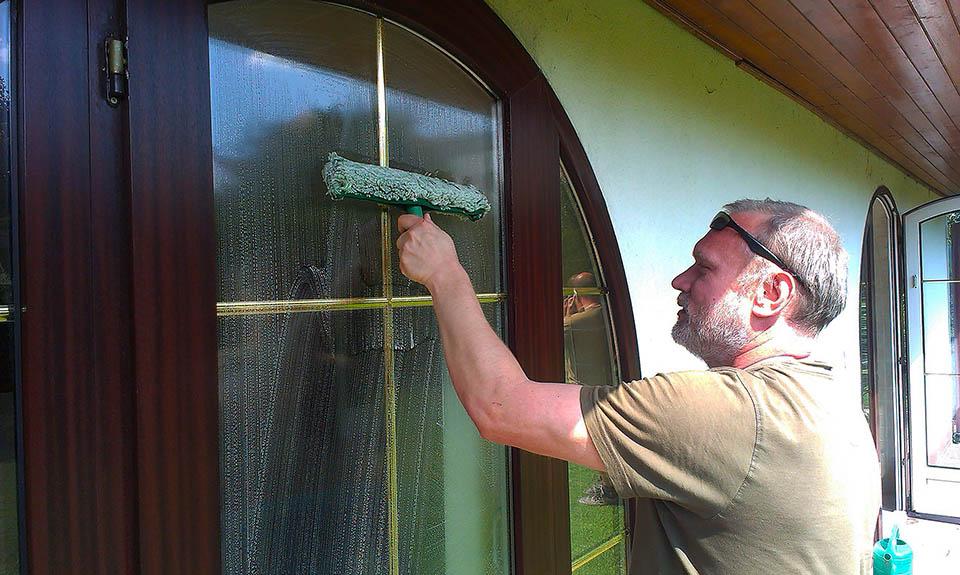 Mytí oken v rodinném domě Praha