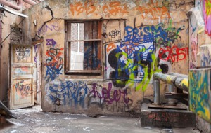 nevzhledné graffiti-odstranění