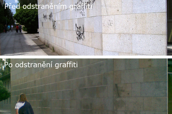 Odstraňování graffiti, ochrana fasád Praha 11