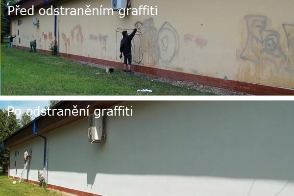 Odstranění graffiti a nátěr anitgraf. Praha 8