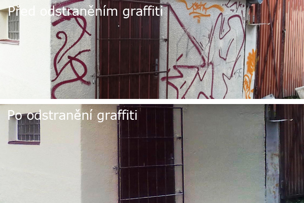 Odstranění graffiti, plakátů, antigraffiti Praha 1