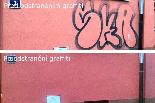 Odstranění grafitů, antigraf. ochrana Praha 1